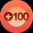 100 + followers