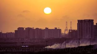"""""""The sweet sunset in the buildings. A very proud shot.""""By: Fazz Kazi"""