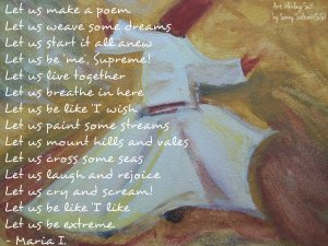 (Artwork: Sonny Sultani (SS)  Poetry: RandomlyAbstract)